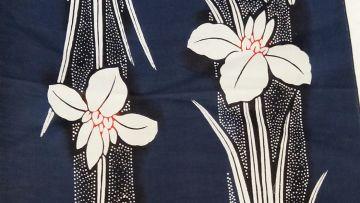 Motif Kimono Iris flower