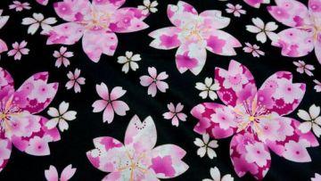 Motif Kimono Bunga Sakura