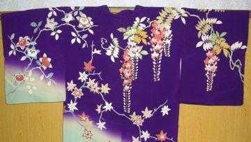 Kimono motif bunga Wisteria