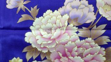 Motif Kimono Botan (Peony)