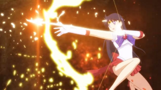 Sailor Mars versi baru dalam trailer.(Youtube: sailormoon-official)