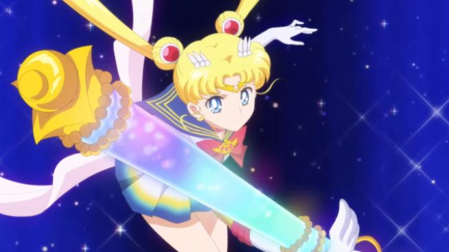 Usagi (Sailor Moon) dalam trailer film anime Sailor Moon Eternal (Youtube: sailormoon-official)