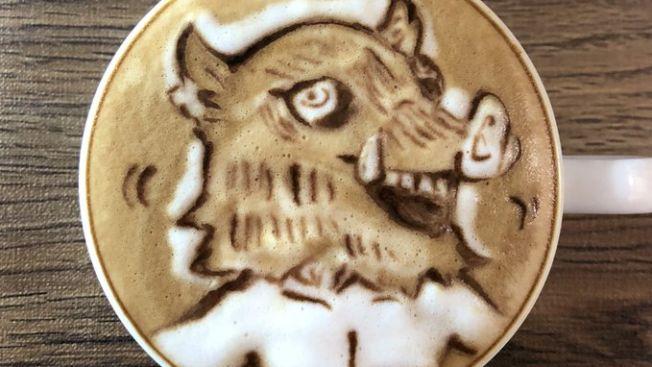 Inosuke Latte Art (https://twitter.com/NaoKi_N_K)