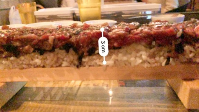 Tinggi sushi 3cm (soranews24.com)