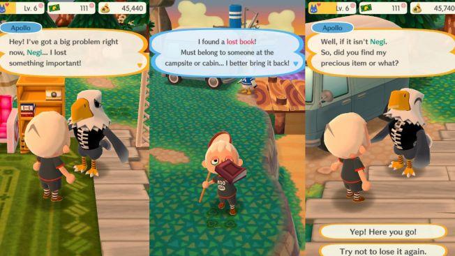 Quest dalam Animal Crossing: Pocket Camp (grapee.jp)