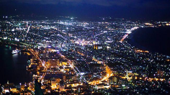 Pemandangan malam dari Gunung Hakodate (ana-cooljapan.com)