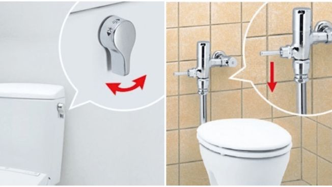 Toilet di Jepang, simbol toilet jepang