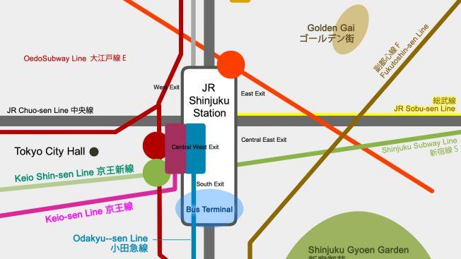 Stasiun Shinjuku Map