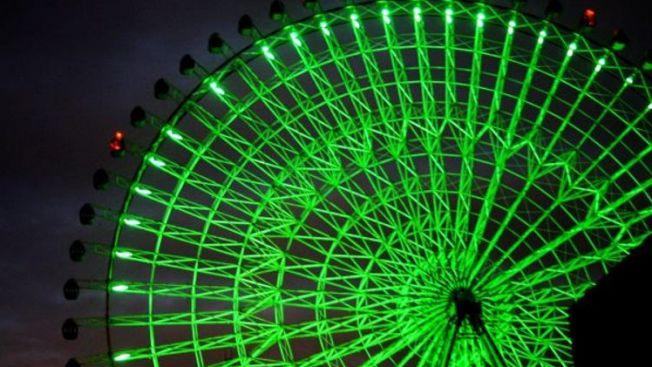 pemandangan malam terbaik osaka,Tempozan Ferris Wheel