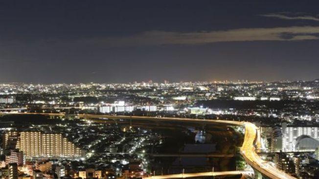 pemandangan malam terbaik osaka,Satsukiyama driveaway