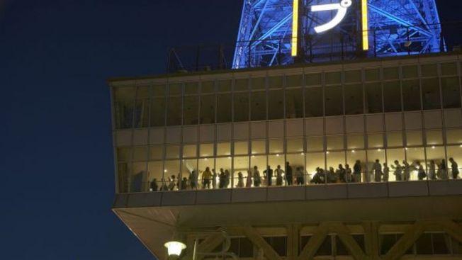 pemandangan malam terbaik osaka, Tsutenkaku Tower