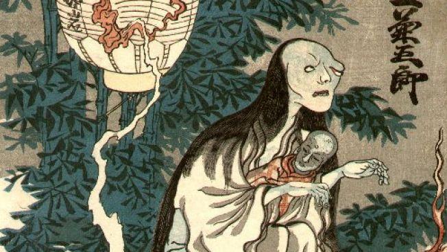 Ilustrasi penampakan hantu Oiwa
