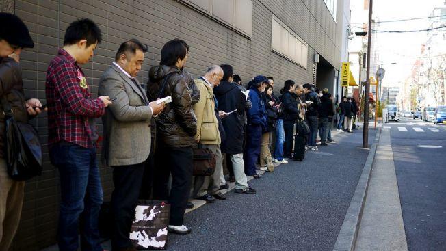Mengantri di Jepang