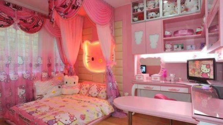 Inilah Desain Kamar Tidur Terbaru Bertema Hello Kitty Yang Lucu Dan Indah Berita Jepang Japanesestation Com
