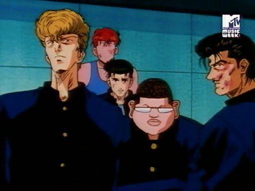 Scene dimana Sakuragi Gang datang menolong melawai mitsui