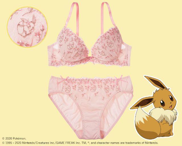 Flower and Eevee bra set. (grapee.jp)