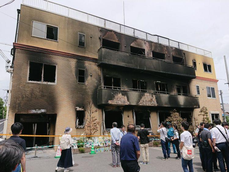 Studio Kyoto Animation #1 yang terbakar. (soranews24.com)