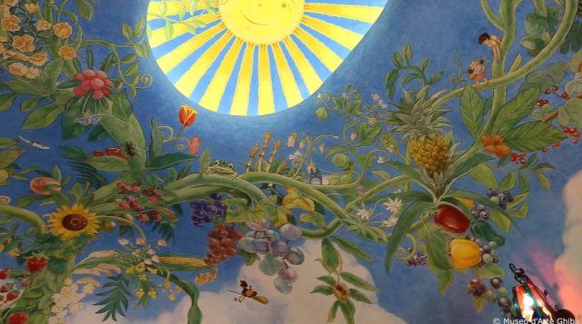 Langit-langit Museum Ghibli. (soranews24.com)