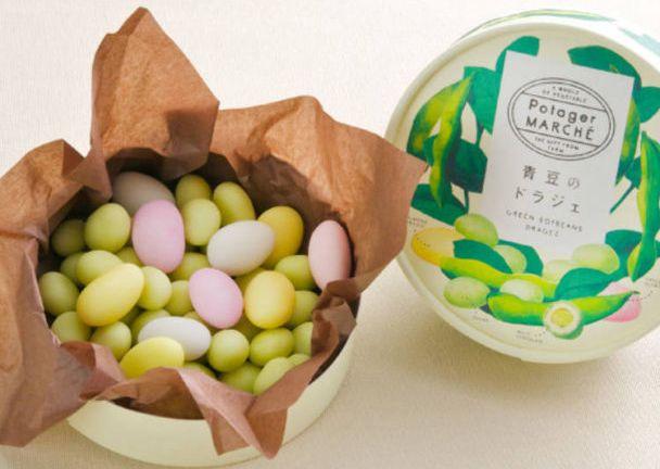 Green soybeans dragée (livejapan.com)