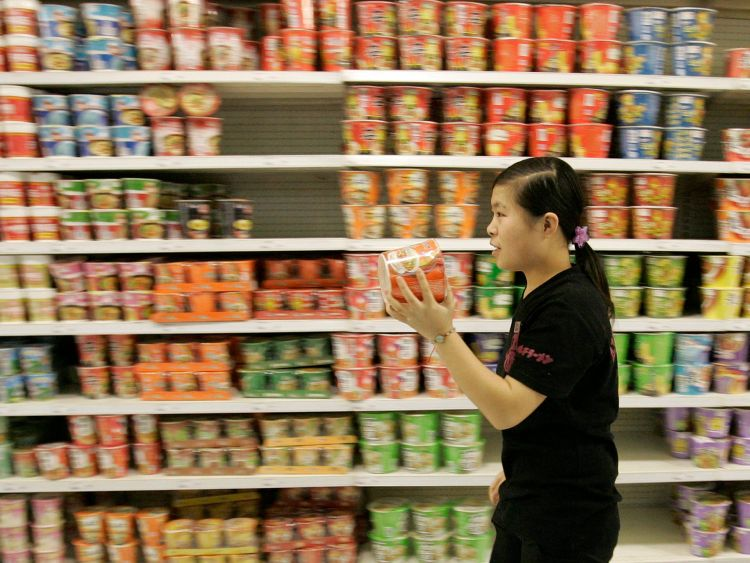 Pusat perbelanjaan di China dipenuhi mie instan (insider.com)