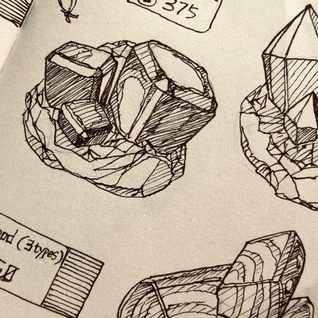 Sketsa berbagai flora, dauna, kerang, dan mineral. (Twitter: @Radmond_MMM)