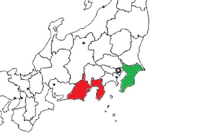 Jarak antara Shizuoka dan Chiba (soranews24.com)