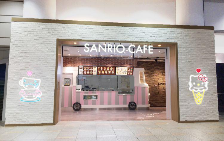Bagian luar dari Sanrio Cafe yang hadir di Sunshine City Ikebukuro ( Source: Sanrio Cafe )