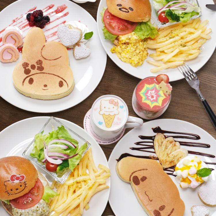 Berbagai jenis menu makanan dan minuman Sanrio Cafe yang hadir di Sunshine City Ikebukuro ( Source: Sanrio Cafe )