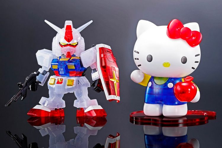 Gundam RX-78-2 dan Hello Kitty SD EX-STANDARD
