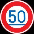 Rambu maksimal 50km
