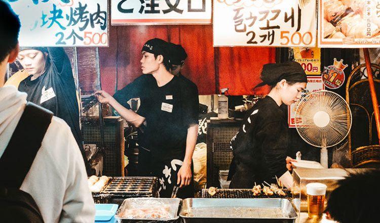Stall Makanan Jepang