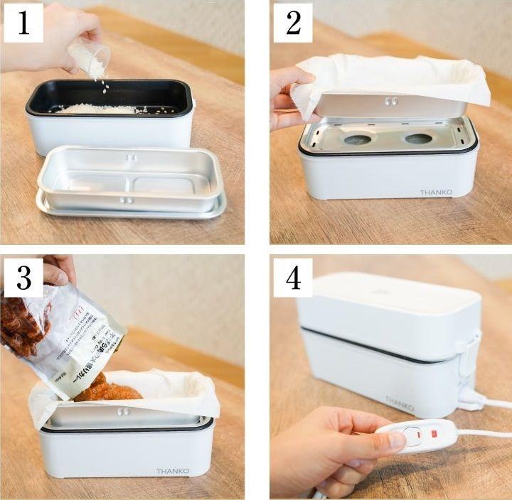 Bento box rice cooker