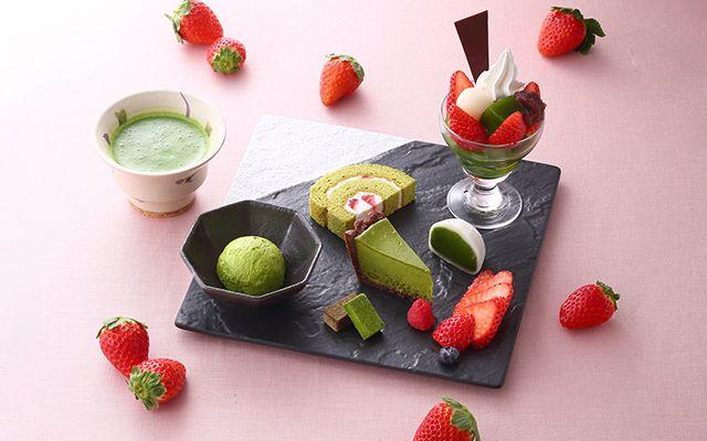 Strawberry Matcha Sweets Plate