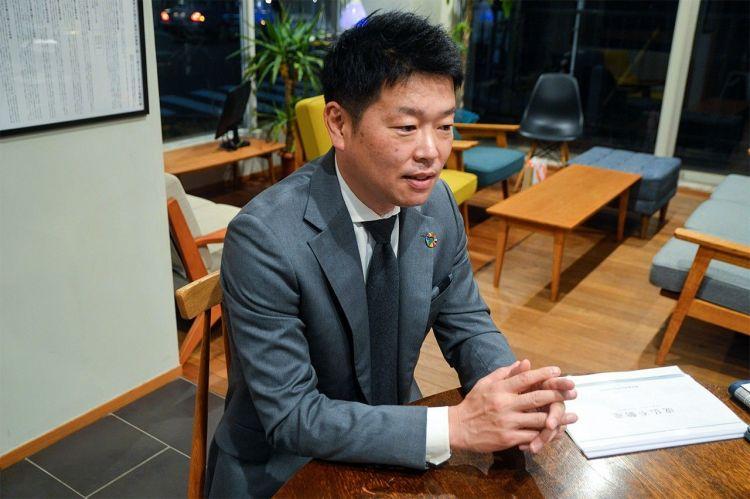 Hanahara Kouji, presiden perusahaan real estate Nikkei Marks