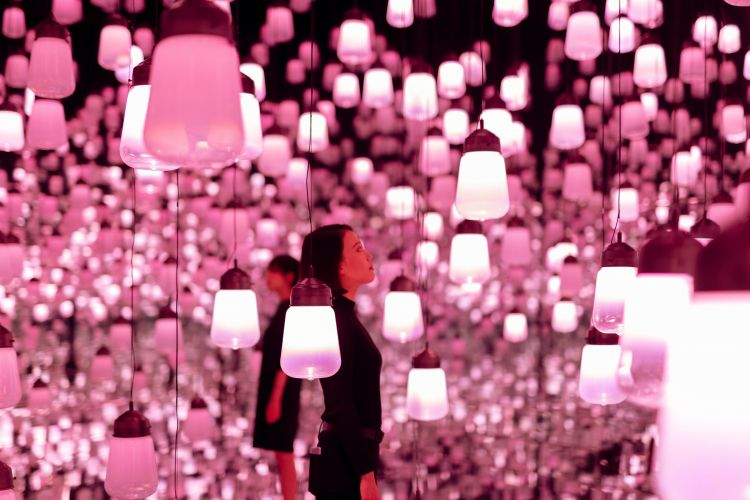 teamLab, 'Forest of Resonating Lamps'