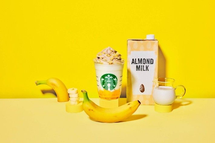Banana Almond Milk Frappuccino