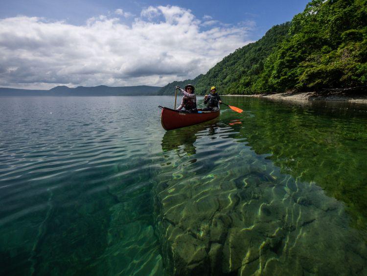 Kano di danau Shikotsu jepang