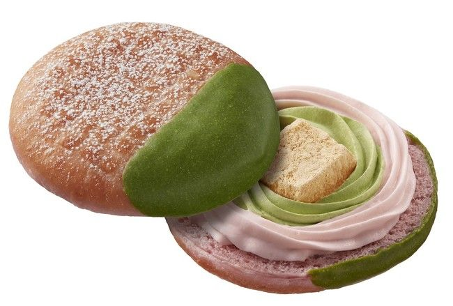 Warabimochi Sakura & Uji Matcha Whip mister donut